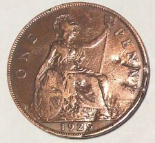 1929 British Penny - UK Collectible Coin