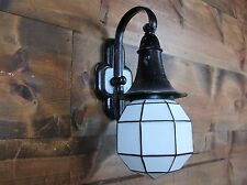 Antique Arts & Crafts Mission Witch Hat Cottage Porch Sconce Light Rewired Vtg