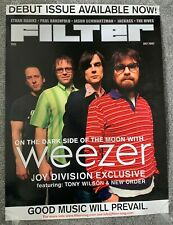 Weezer 2002 Filter Magazine Poster 1st Issue joy division/new order/tony wilson