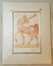 Salvador Dali Divine Comedy Centaur Limited Edition Lithograph
