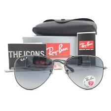New Ray-Ban RB3025 004/78 Gunmetal Aviator Sunglasses Gray Polarized Lens 58mm