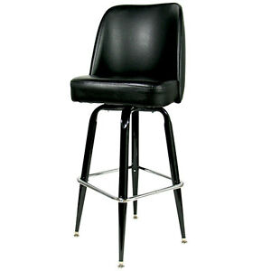 "42"" BLACK SWIVEL BAR STOOL WITH WATERFALL BUCKET SEAT HEAVY DUTY COMMERCIAL"