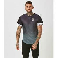 Mens Closure London Fade Cuff Tee Black Sik Gym T-shirt Sale King Silk defend