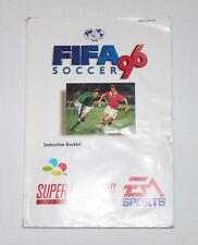 Fifa 96 - Notice/Manuel seulement - PAL - Super Nintendo / SNES - SNSP-A6SP-EUR