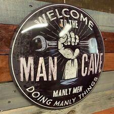 Man Cave Dome Round Metal Sign Bar Man Cave Garage Wall Decor