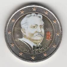 --- 2012 - 2 EURO C0ULEUR --- ITALIE / G. PASCOLI / 1912-2012