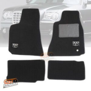 CHRYSLER 300C CAR FLOOR MATS 2Rows 10/2005-05/2012 SRT8 (300C LOGO) Charcoal