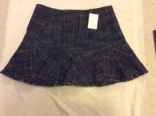 Theory Blue & White Plaid A-Line Skirt, Size 4