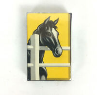 Horse Design Playing Swap Cards Yellow Black IRS Tax Stamped Sealed Vtg