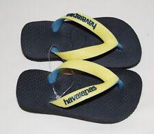 b53ffae64 NWOB Havaianas Toddlers Little Kids Yellow   Black Flip Flops sz 23 24 ...