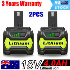 2x Li-ion Battery for 18V RYOBI One+ P108 P104 P107 P780 RB18L25 RB18L50 4.0Ah