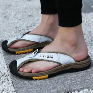 Mens Flip Flops Casual Closed Toe Sandals Non-Slip Slipper Fisherman Beach Shoes