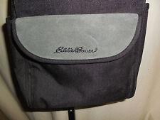 EDDIE BAUER BLACK ADJ.SHOULDER CAMERA BAG 2 POCKETS INSIDE & 3 OUTSIDE EUC