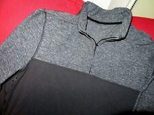 Lululemon Speed Surge Warm 1/4 Zip Rulu Pullover Shirt-Heathered Black-Large