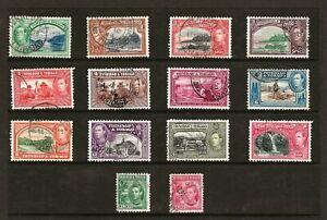 TRINIDAD & TOBAGO (9-45)1938 SG246-56 PICTORIAL FULL SET 14  POSTALLY GOOD USED