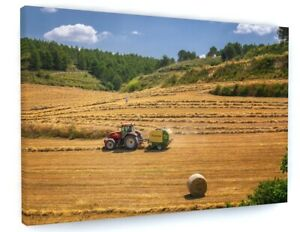 Farm Tractor Canvas Picture Print Wall Art B944