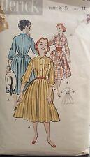 1950s Butterick 8427 Size 11  Rockabilly 50s Junior Teens Soft Shirtdress B 31.5