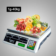Digital Kitchen Postal Scale Electronic Price Computing Weight up to 40KG White