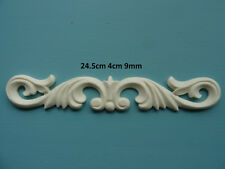 Decorative chic acanthus scroll onlay resin furniture moulding applique AC1