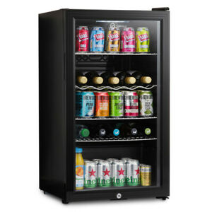 Subcold Super 85 LED Black | Under Counter Drinks Fridge | Wine & Beer Fridge
