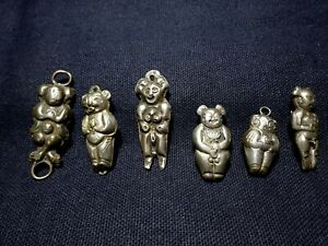 A Set of 6 Antique Chinese Ethnic Minority Silver Charms Pendants