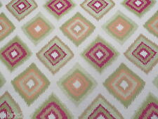 Multicoloured Retro Daimond Upholstery/Curtain Fire Retardant Fabric (R21)