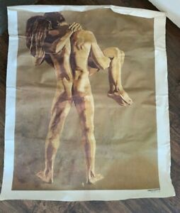 769 LOVERS by Ryer Vintage Print On Canvas NO Frame