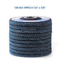 "10PCS 4-1/2"" x 7/8'' Flap Disc Zirconia 120 Grit Abrasive Sanding Grinding Wheel"
