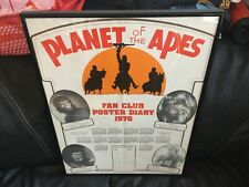 1976 PLANET OF THE APES ORIGINAL BRITISH FAN CLUB POSTER DIARY VERY RARE UNUSED