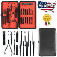 15pcs Manicure Pedicure Set Callus Remover Nail Clippers Kit Hand Foot Care US