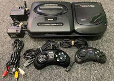 Sega Genesis & Sega CD Model 2 Game Console w/ 2x controllers! New Laser & Fuse