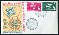 CEPT Romania 1961 special FDC B geschnitten Europa Union Rumänien Privatausgabe