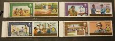 OLD BOY SCOUT GIRL GUIDE STAMP COLLECTION, KENYA SET OF 8 MINT