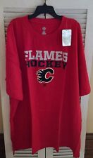 NWT NHL Calgary Flames Hockey Men's Size 5XL SS Screen Print T-Shirt Red