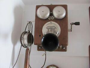 altes, antikes Telefon,Kurbeltelefon, Süddeutsche-Telephon-Werke
