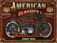 American Classics Motor, Plaque Retro Art  printed metal sign vintage sign tin