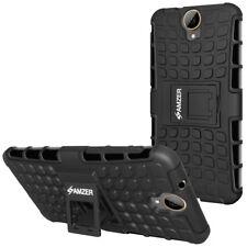 Amzer Schwarz Doppellagig Warrior Hybrid-Schutzhülle für HTC One E9 Plus