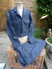 More details for vintage raf uniform battledress jacket blouse & trousers goodwood revival child