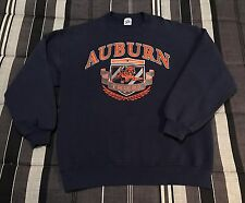 VTG 90s Auburn Tigers College Frat Hip Hop Football Sweatshirt Jacket - Medium
