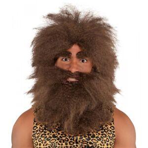 Caveman Wig Kit Costume Accessory Adult Halloween