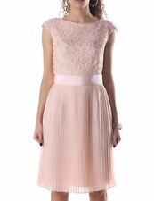 "TED BAKER PALE PINK /NUDE""ALIANA""LACE WEDDING OCCASION DRESS UK 10/2 US 6 BNWT"