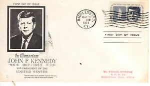 1246 May 29 1964 5 cent JFK Kennedy FDC First Day Middlesex Kentucky