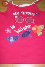 NEW GYMBORE GIRLS TINK TOP SIZE 8 COTTON PINK MY FUTURE IS