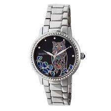 Bertha Madeline Women's MOP Crystal Owl Silver Bracelet Watch BR7101