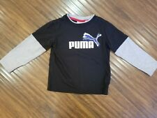 Size 3T Puma Boy Black Shirt Long Sleeve