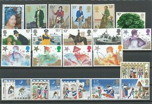 Great Britain 1970 's Good lot different stamps; horses, Christmas. MNH