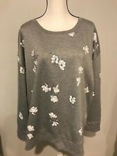 Liz Claiborne Womens Gray Floral Sweater Size 3X (H)