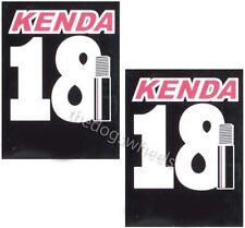 """2 x Kenda Inner Tubes 18"""" inch Cycle Bike Bicycle Tube Pair"""