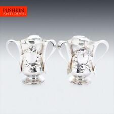 More details for antique 20thc arts & crafts solid silver wine coolers c.1906