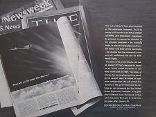 12/1963 PUB LOCKHEED SUPERSONIC TRANSPORT FIRST ADVERTISEMENT ORIGINAL AD
